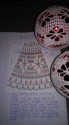 Crochet Christmas Decorations, Crochet Decoration, Crochet Ornaments, Xmas Ornaments, Christmas Baubles, Christmas Crafts, Crochet Ball, Crochet Home, Thread Crochet