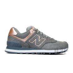 """New Balance """"Precious Metals 574"""" WL574PBG (Silver/Bronze) Women's Shoes 