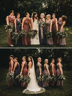 Gorgeous Fall Bridesmaids Style Inspiration Junebug Weddings is part of Fall bridesmaids Whether you choose a fashionforward uniform or let your girls mix and match, look no further for gorgeous f - Fall Bridesmaid Dresses, Bridesmaids And Groomsmen, Wedding Dresses, Fall Wedding Bridesmaids, Bridesmaid Dresses Different Colors, Bridesmaid Inspiration, Wedding Inspiration, Style Inspiration, Style Ideas