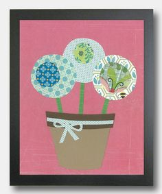 Take a look at this Blue Potted Flowers Print by Periwinkle Productions on #zulily today!