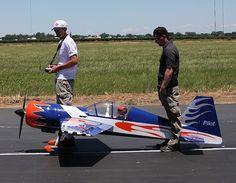 Mark and Steve prep for flight
