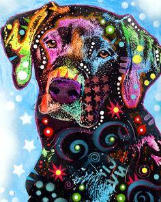 Hermoso labrador. Love #lab #ilustraciones #dibujos #perro
