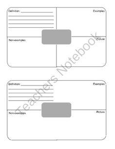 blank frayer model template bing images frayer model pinterest models. Black Bedroom Furniture Sets. Home Design Ideas