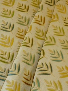 "Woven Embroidered Floral Upholstery Fabric  very high end upholstery fabric, Colors Amber, Verdun Green, Fern Frond, Rangitoto, Como on Colonial White  cotton/poly  repeat 13 1/2""V 18 1/2""H 54""W  original retail at least $79.00  SPECIAL BUY SALE PRICED  discounted below original wholesale  priced per yard, very limited quantity   #decoratorfabric #upholsteryfabric #embroidery"