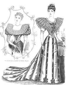 History 1890's - 1894 Day Dress