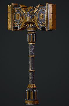 ArtStation - Dwarf Hammer, Loïc Sprimont