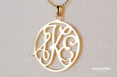 Circle Type monogram necklace