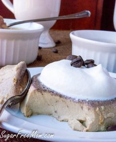 coffee custard6 (1 of 1) No Carb Recipes, Real Food Recipes, Snack Recipes, Yummy Food, Protein Cake, Protein Foods, Protein Muffins, Protein Cookies, Whey Protein