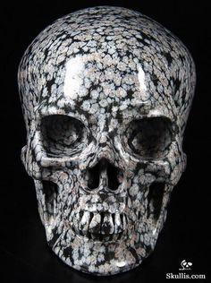 Snowflake Obsidian Crystal Skull