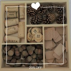Loose Parts Kit / Reggio Inspired / Montessori / Waldorf / Preschool / Open-Ended / Corks / Pine Cones / Acorns / Wood Buttons/Wooden Tiles Counting Activities, Sensory Activities, Waldorf Toys, Waldorf Preschool, Homemade Playdough, Developmental Toys, Baby Development, Felt Ball, Early Childhood