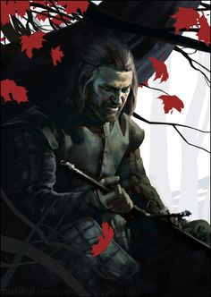 Ned Stark - Gra o Tron / Game of Thrones Dessin Game Of Thrones, Arte Game Of Thrones, Game Of Thrones Fans, Ned Stark, House Stark, Jaime Lannister, Cersei Lannister, Daenerys Targaryen, Game Of Thrones Tumblr