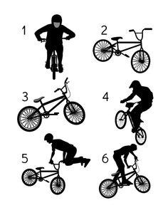 BMX Prints Bike Rider Art BMX Typography by SimplyLoveCreations