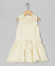 Take a look at this Ivory Lace Princess Dress - Toddler & Girls by Trish Scully Child on #zulily today!