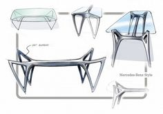 Mercedes-Benz is going into the furniture business. The first collection of designer furniture under the Mercedes-Benz Style brand was presented at Milan Furniture Fair yesterday and will be sold worldwide from October All the images! Milan Furniture, New Furniture, Luxury Furniture, Furniture Makeover, Furniture Design, Furniture Sketches, Laminate Furniture, Baker Furniture, Porch Furniture