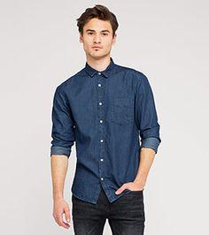 Jeanshemd in der Farbe jeans-dunkelblau bei C&A