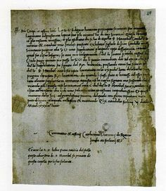 Autograph letter of Catherine Sforza, written December 6, 1488