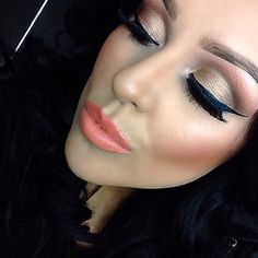 makeup. love all the colors together. coral & bronze and neutral browns. LOVE.