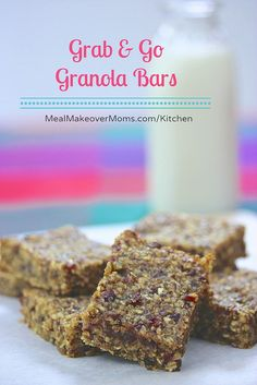 Grab & Go Granola Bars by mealmakeovermoms, via Flickr