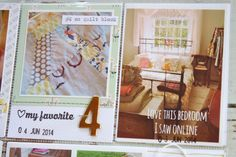 Include home decor and other inspiration in PL album Mish Mash: Project Life 2014....Week 23