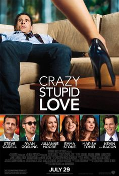 Crazy, Stupid, Love - A middle-aged husband's life changes dramatically when his wife asks him for a divorce. He seeks to rediscover his manhood with the help of a new-found friend, Jacob, learning to pick up girls at bars. Cal (Steve Carell) and Emily (Julianne Moore) have the perfect life together living the American dream... until Emily asks for a divorce. Now Cal has to navigate the single scene with a little help from his professional bachelor friend Jacob Palmer (Ryan Gosling).