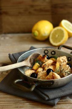 MIEL & RICOTTA: Pollo al limone e olive nere