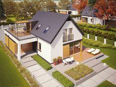 Ac energo plus ce (haus Bungalow Extensions, House Extensions, Modern Barn House, Modern House Design, Rental Homes Near Me, Attic House, Dream House Exterior, Village Houses, Garage House