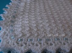 Free Crochet Pattern for a Beautiful Baby blanket or Baby Shawl (LARGE)