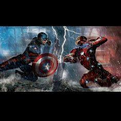 Guerra Civil - Revelada primeira arte oficial com Capitão América e Homem de Ferro! - Legião dos Heróis