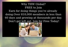 Make money from home - Earn for doing things you are already doing online. Unique opportunity.  http://stenh.thwglobal.com
