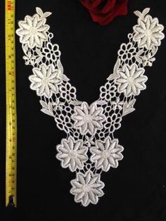 """Daisy Venice Lace Yolk Applique; 3 Colors; Lot of 3; High Quality; 12""""x9"""" Amore Lace and Fabrics http://www.amazon.com/dp/B00JJ7X3YU/ref=cm_sw_r_pi_dp_byuXtb0YJTRNDA3B"""