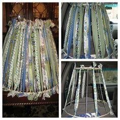 Feel LOVD Everyday: What I Made Wednesday {Rag-Tied Lampshade}
