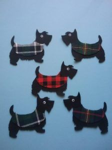 Felt Board Magic - Five Scottie Dogs