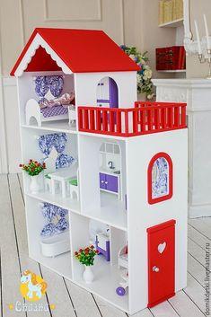 Barbie Doll House, Doll Clothes Barbie, Barbie Dream, Diy Barbie Furniture, Dollhouse Furniture, Doll House Plans, Toy House, Diy Dollhouse, Cardboard Dollhouse