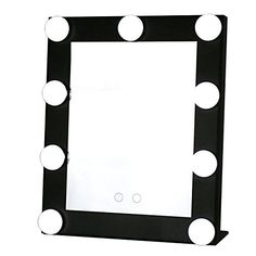HollywoodLightedVanityMirrorwith9x3WDimmableLEDBulbsandwarmlightdaylightSettingBattery Operated and USB Plugin Options TVictoryMakeupMirrorwithLightBlack ** Check out the image by visiting the link. #XmasBath