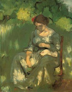 Femme avec un chat, Louis Anquetin. French (1861 - 1932)