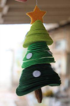 Felt Christmas tree  #winter #christmas #christmastree #felt #DIY