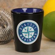 Seattle Mariners 2oz. Ceramic Two-Tone Shot Glass - Black