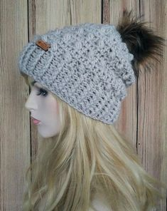 THIS LISTING IS FOR THE PATTERN FOR THE CHARLEIGH SLIGHTLY SLOUCHY & MESSY BUN/PONYTAIL BEANIE, AND NOT A FINISHED ITEM. This pattern, and all my patterns, are written in standard Canadian/US terms. This pattern contains instructions to make both the Slightly Slouchy style and