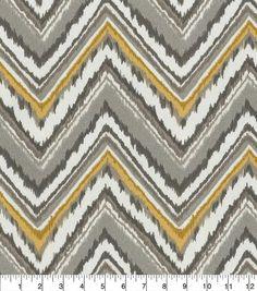 Dena Design Outdoor Fabric-Chevron Charade Slate