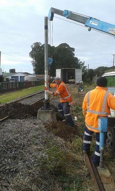 Installing the signal posts for Awakeri Rail Adventures in Awakeri, Whakatane, New Zealand Self Driving, New Zealand, Posts, Adventure, Messages, Adventure Movies, Adventure Books