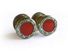 Art Deco 1920s Cufflinks / FF Brand Snap by RedRavenCollectibles
