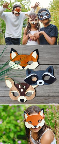 #feltmasks #feltcrafts #kidscraft #masks #videotutorial www.LiaGriffith.com
