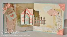 Easter Holiday House Pivot Card with some Karen Burniston CHA 2015 new releases