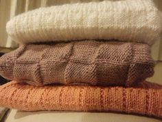 Small, medium and large baby blankets