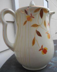 Vintage Hall Jewel Tea Autumn Leaf Porcelain Covered Coffee Pot China Hall's A5 #HallsJewelTea
