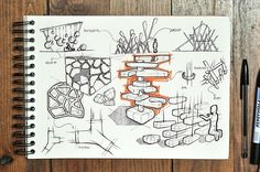 Sketches on Behance Concept Board Architecture, Architecture Design, Conceptual Drawing, Industrial Design Sketch, Free Hand Drawing, Hand Sketch, Aesthetic Drawing, Machine Design, Sketch Design