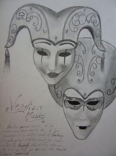 Venetian Masks by Sakuraso