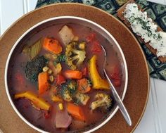 How to Make Homemade Vegetable Soup, a master recipe ♥ KitchenParade.com. Never the same twice! Perfect for CSA members, farmers market shoppers and all vegetable lovers! Rave reviews.