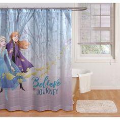 $19.98 Disney Frozen 2 Shower Curtain | disney princess shower curtain | disney bathroom decor shower curtains | #disney Disney Shower Curtain, Shower Curtain Sizes, Fabric Shower Curtains, Disney Bathroom, Kid Bathroom Decor, Frozen Fabric, Frozen Room, Disney Frozen Elsa, Disney Princess