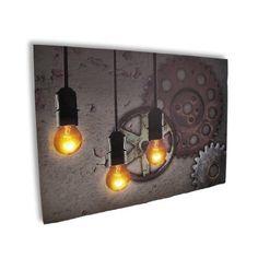 Industrial Steampunk Gears Print with Flickering LED Light Bulbs, http://www.amazon.com/dp/B00EJVVJ9M/ref=cm_sw_r_pi_awdm_ef.Atb1FRMYFH